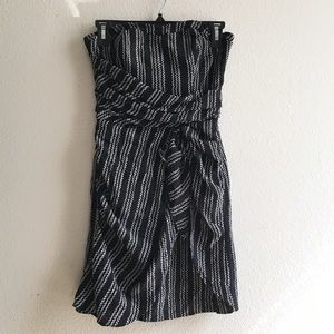 Club Monaco Silk Strapless Dress